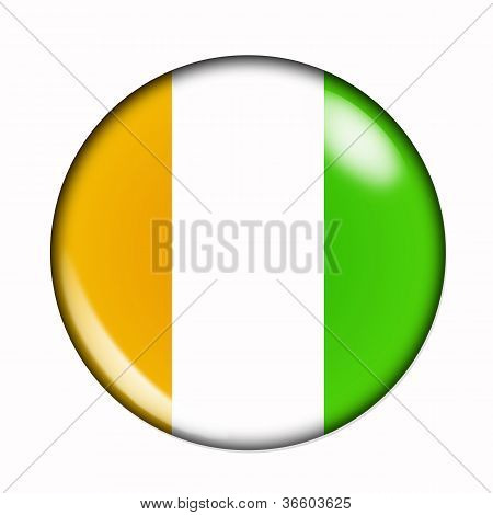 Button Flag Of Ivory Coast