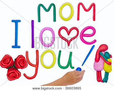 Plasticine Kid's Love Message For Mother On Mother's Day.jpg