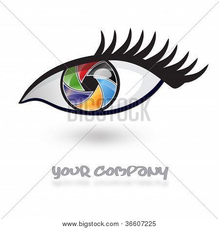 Logo multicolored eye, iris # Vector