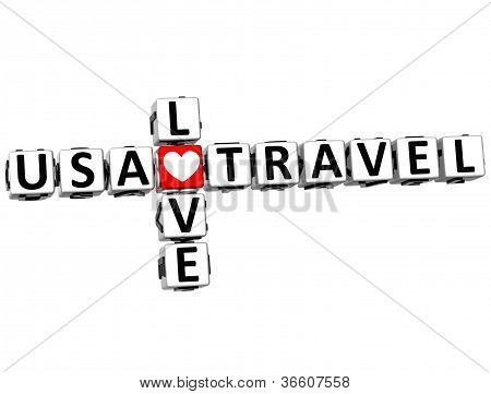 3D Usa Love Travel Crossword