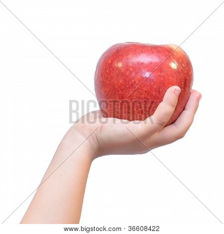 Hand And Apple