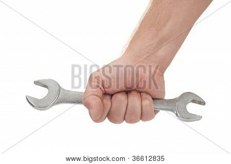 Hand With A New Wrench