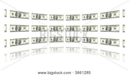 Money Inward Circle White