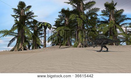 walking spinosaurus