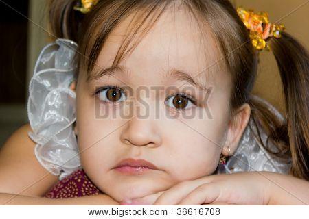 Cute Face Of A Little Girl