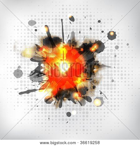 Burning Sparkler, Isolated On White Background, Vector Illustration