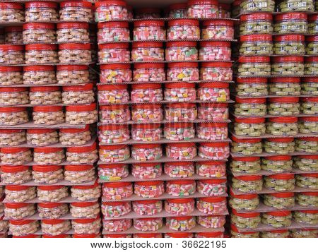Stacks Of Goodies For The Chinese New Year