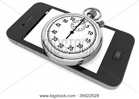 Stopwatch With Mobile Phone