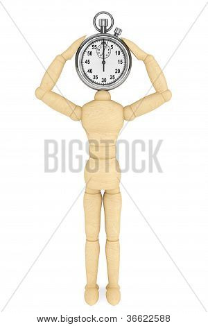 Stopwatch With Wooden Dummy