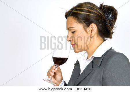 Hispanic Woman Wine Taster