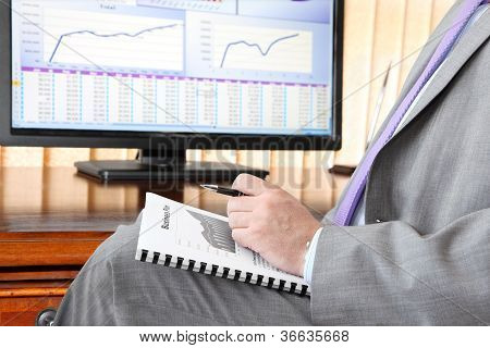 Businessman with Business Plan