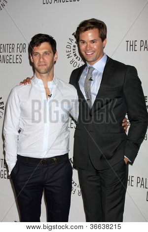 LOS ANGELES - SEP 5:  Andrew Rannells, Justin Bartha arrives at