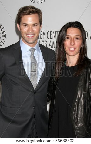 LOS ANGELES - SEP 5:  Andrew Rannells, Ali Adler arrives at