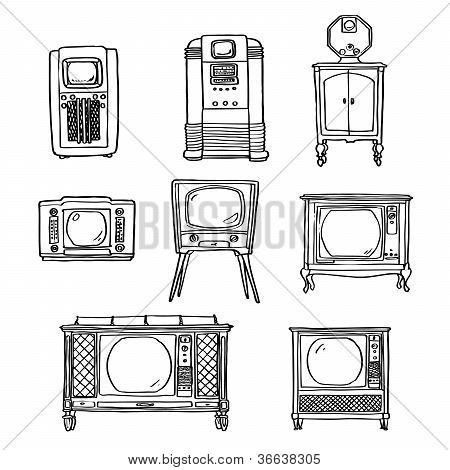 Vintage tv set