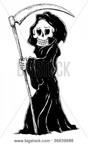 Grim reaper theme image 4 - vector illustration.