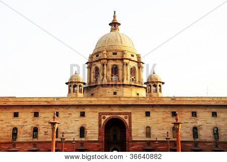 Indian Government buildings, built during British colonial rule, Raj Path, New Delhi, India