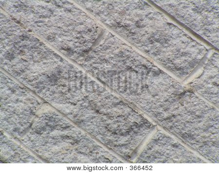 Textured Brick At Angle