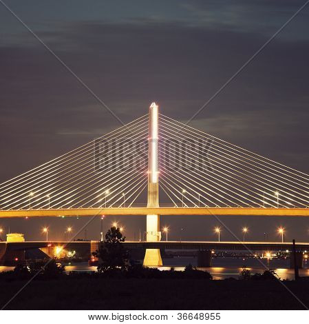 Veterans' Glass City Skyway Bridge In Toledo