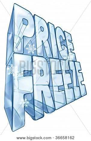 Price Freeze Sale Illustration