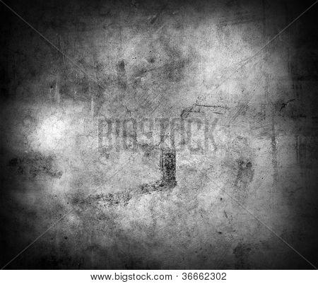 Grunge schwarze und weiße Mauer