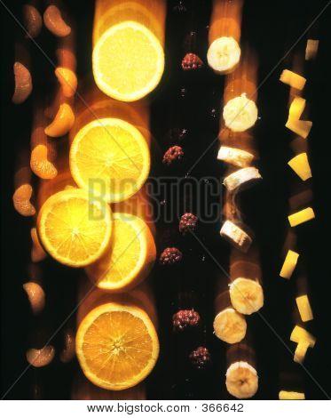 Falling Oranges, Bananas, Berries