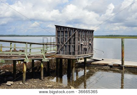 Fish cleaning hut at Crooked River