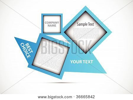 Abstract web design new square vector