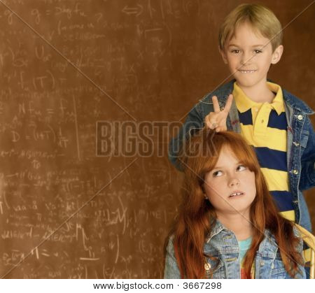 Children And Black Board
