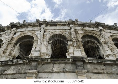 ancient arenas of Nimes in France