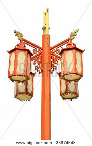 chinese street lamp isolated