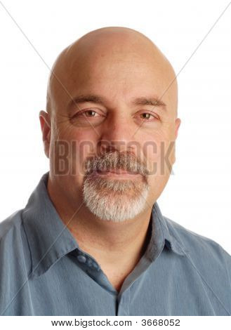Middle Age Bald Man