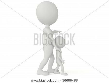 3D Humanoid Character Pointing With Finger
