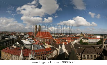 Skyline Of Munich With Church Liebfrauenkirche, Germany