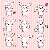 picture of kawaii  - Collection of funny and cute happy kawaii rabbits - JPG