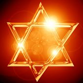 pic of israel israeli jew jewish  - Star of David representing the Jewish religious symbol - JPG