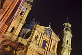 pic of munich residence  - The famous Theatinerkirche church in Munich - JPG