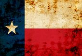 image of texans  - Texan flag with a vintage and old look - JPG
