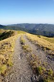 pic of apennines  - Dirt road in the Apennine mountains - JPG