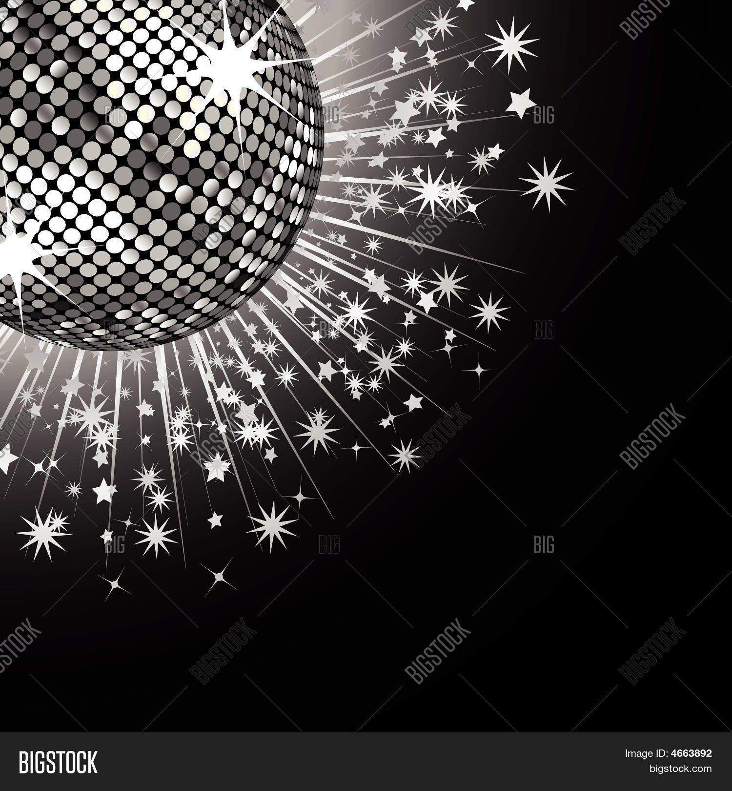 silver disco ball and stars stock vector amp stock photos