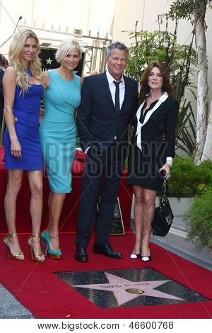 LOS ANGELES - MAY 31: Brandi Glanville, Yolanda Foster, David Foster, Lisa Vanderpump at the David Foster Hollywood WOF Star Ceremony at the Capital Records Building on May 31, 2013 in Los Angeles, CA