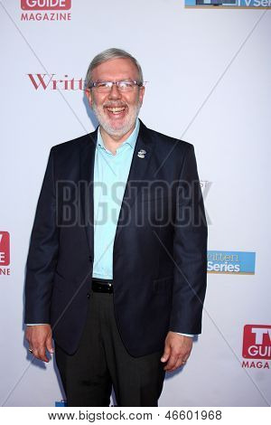 LOS ANGELES - JUN 2:  Leonard Maltin arrives at the WGA's 101 Best Written Series Announcement at the Writers Guild of America Theater on June 2, 2013 in Beverly Hills, CA