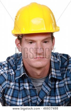 Depressed construction worker