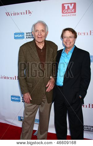 LOS ANGELES - JUN 2:  Robert Mandan, Jay Johnson arrives at the WGA's 101 Best Written Series Announcement at the Writers Guild of America Theater on June 2, 2013 in Beverly Hills, CA