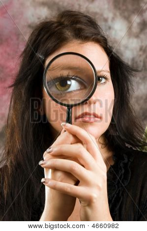 Girl With Magnifier