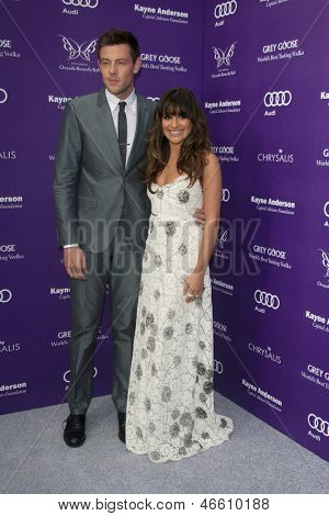 LOS ANGELES - JUN 8:  Cory Monteith, Lea Michele arrives at the 12th Annual Chrysalis Butterfly Ball at the Private Residence on June 8, 2013 in Los Angeles, CA