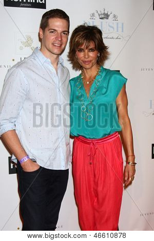 LOS ANGELES - JUN 9:  Jason Kennedy, Lisa Rinna arrives at the 2013 Plush Show at the Hyatt Regency Century Plaza Hotel on June 9, 2013 in Century City, CA