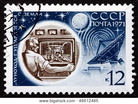 Postage Stamp Russia 1971 Ground Control, Luna 17