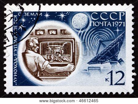 Postage Stamp Russia 1971 Ground Control, Luna 17