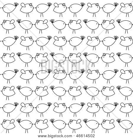 Hand Drawn Seamless Tileable Doodle Vector Background