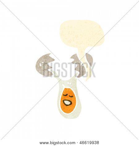 agrietado de dibujos animados de huevo